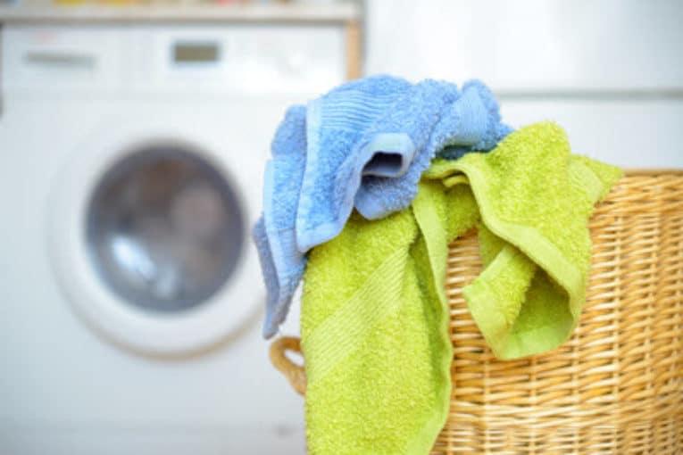 Wäschekorb im Bad