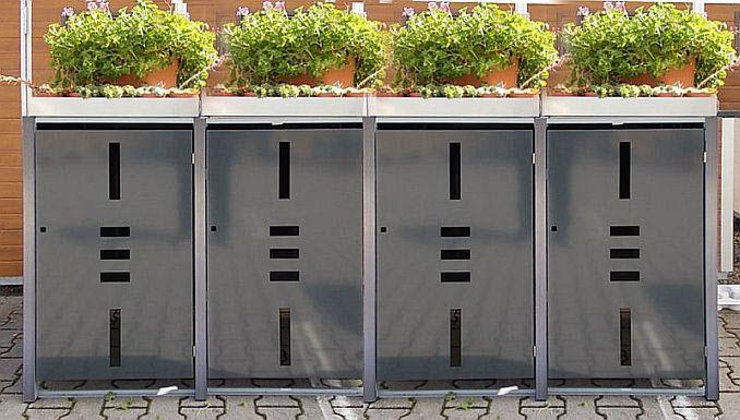 Mülltonnenbox mit Pflanzwanne