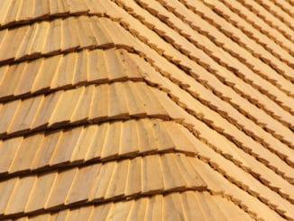 Holzdach mit Lärchenholz