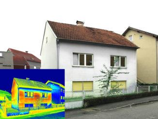 Thermobild eines Hauses