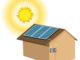 Haus mit Solarmodul