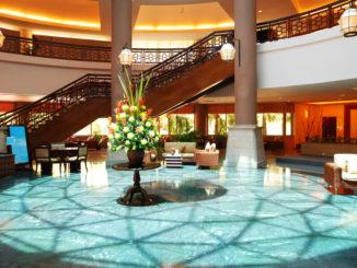 Gussasphalt in Hotel-Lobby