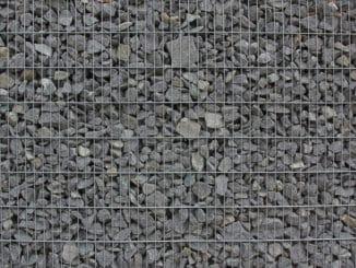 Gabione mit Granit