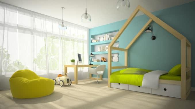 Kinderzimmer mit Hausbett