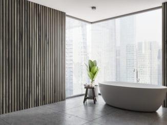 Modernes Bad mit Aussicht