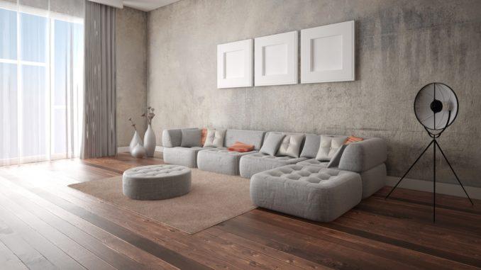Wohnzimmer im Industrial Style