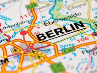 Berlin auf der Karte
