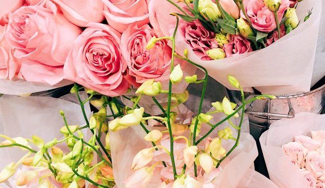 Blumen für den Valentinstag
