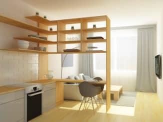 Raumteiler in kleiner Wohnung