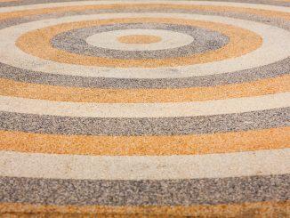 schöner Steinteppich